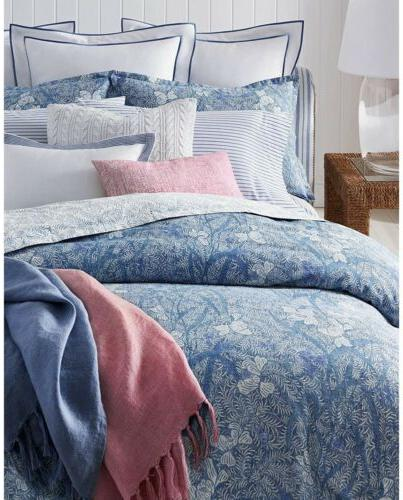 meadow lane coastal blue floral full queen