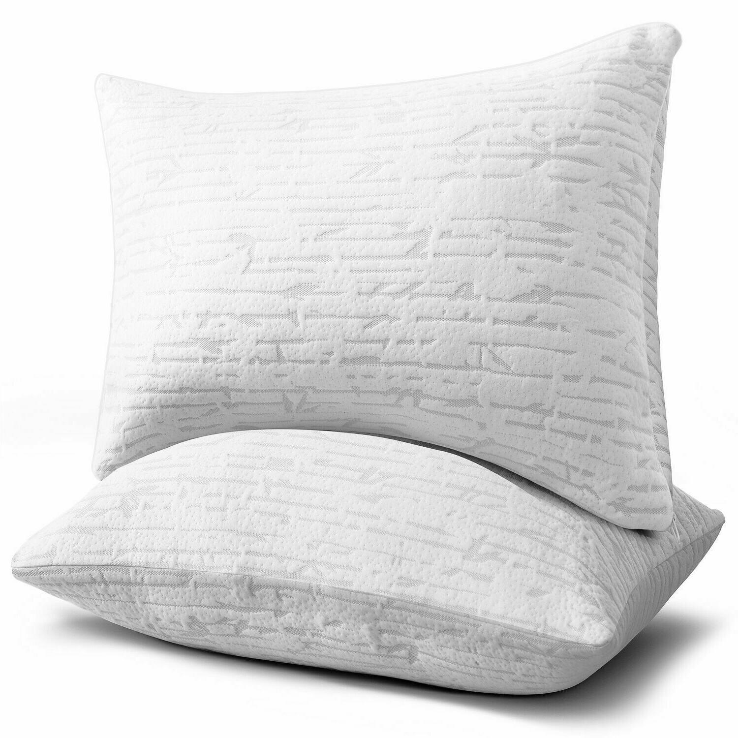 Memory Foam Luxurious Bamboo Gel Pillow by Clara Clark - Kin