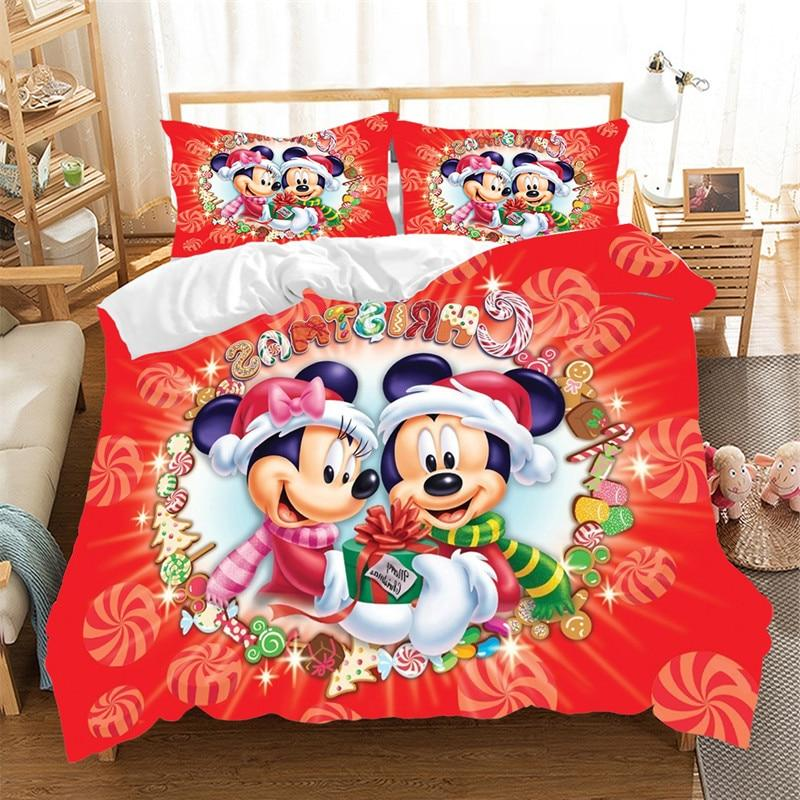 Mickey Claus Bedding Duvet Cover Children Bed <font><b>Set</b></font> Queen <font><b>King</b></font> Nightmare Before Christmas