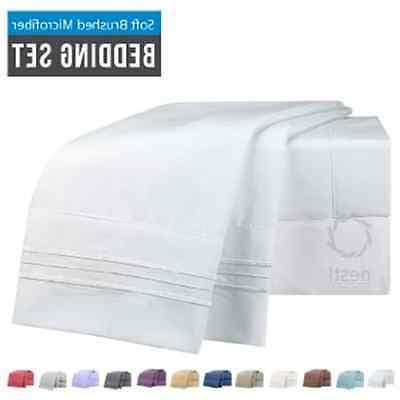 Microfiber Deep Pocket Queen 1800 Thread 4 Piece Set