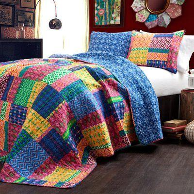 misha 3 piece quilt set by