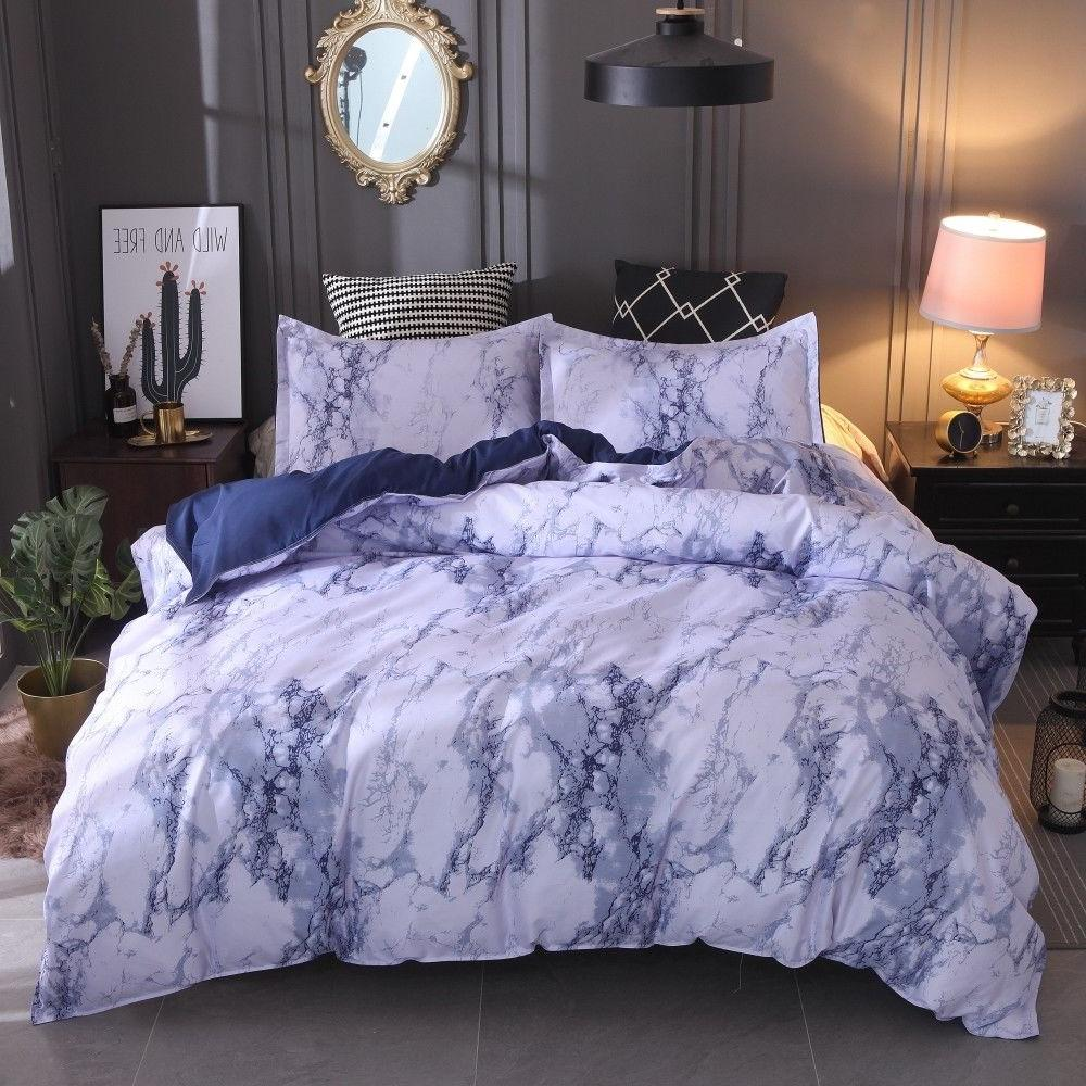 Modern Doona Cover Set Marble Printed Set Queen King