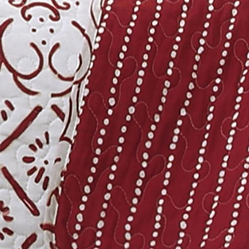 Lush Decor Lush Monique 3Piece Quilt Set, Full/Queen, Red