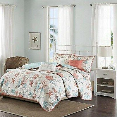 Madison Park Pebble Beach Full/Queen Size Quilt Bedding Set