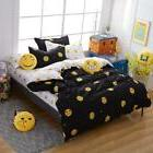 MYRU Home Textile Cartoon Emoji 4pcs Bedding Sets Children's