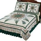 nature inspired botanical fern star patchwork bedding