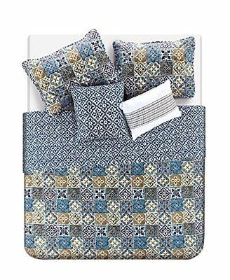 NEW VCNY Home Azau Bedding Quilt Multicolor