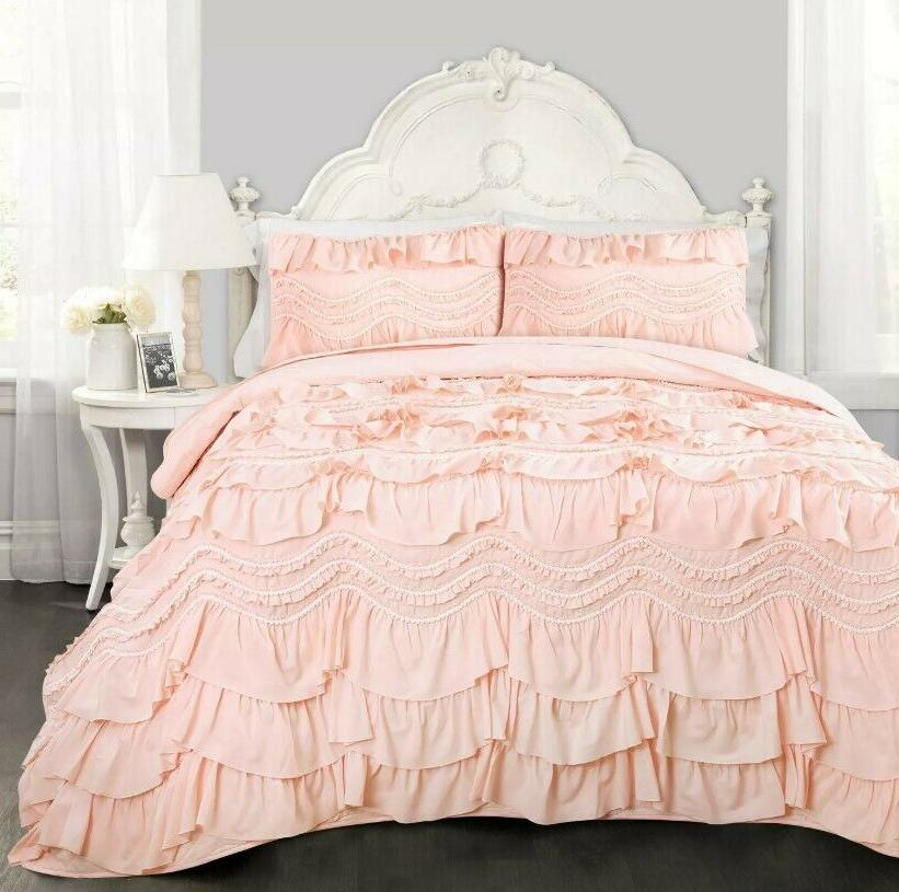 new in package kemmy quilt pink ruffled