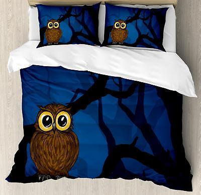 Night Duvet Cover Set Twin Queen King Sizes with Pillow Sham