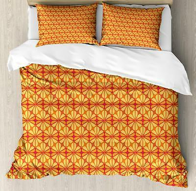 Orange Duvet Cover Set Twin Queen King Sizes with Pillow Sha