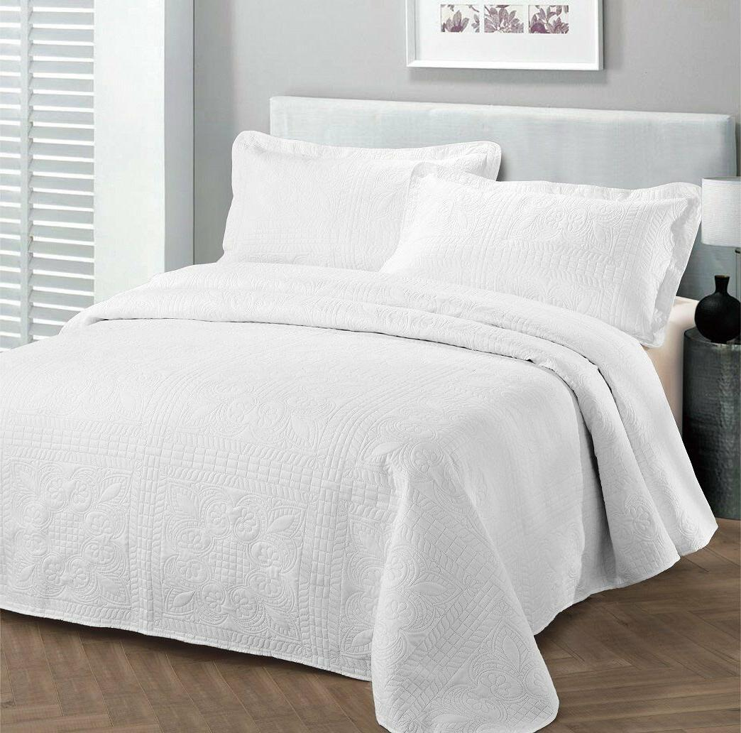 oversize luxury embossed bedspread assorted colors sizes