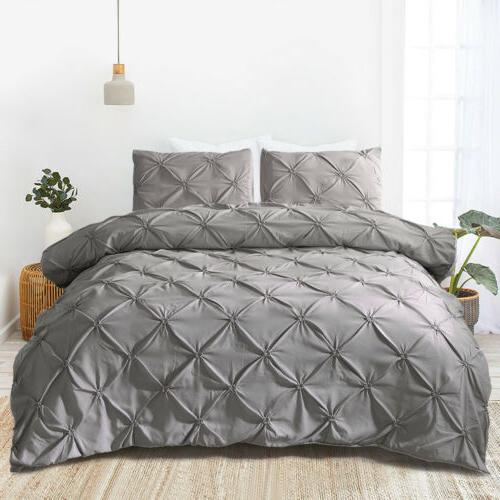 Pinch Pintuck Duvet Comforter Cover Set Twin