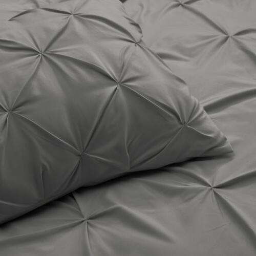 Pinch Pleated Duvet Set Comforter Cover Set