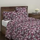 Pink Organic Kitchen Garden Flowers Retro Home Sateen Duvet