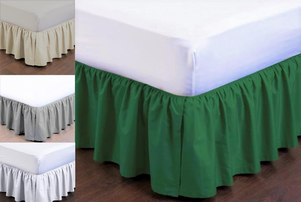 PLEATED Dust Ruffle Bed Skirt Bedding Bed Dressing Easy Fit