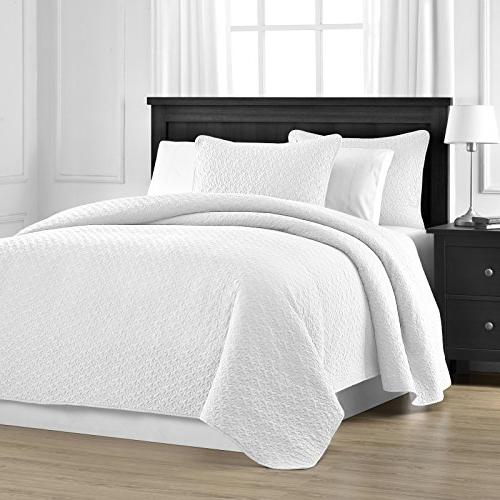 prewashed durable jigsaw quilted bedspread