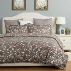 Bedsure Printed Blossom Duvet Cover Set with Zipper Closure