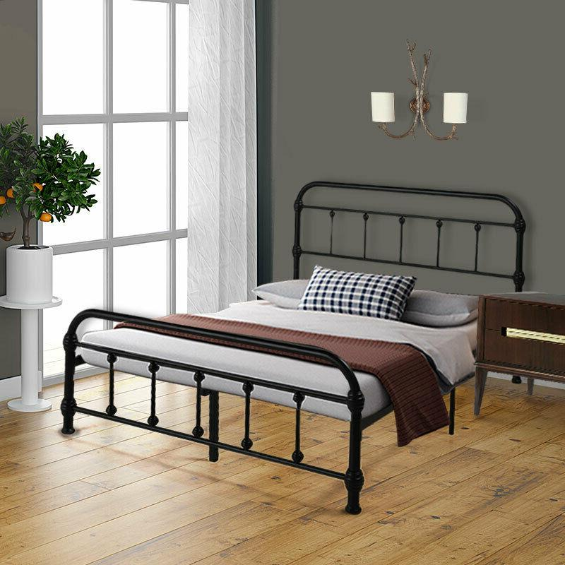 Queen/Full Size Metal Platform Bed Frame Mattress Foundation