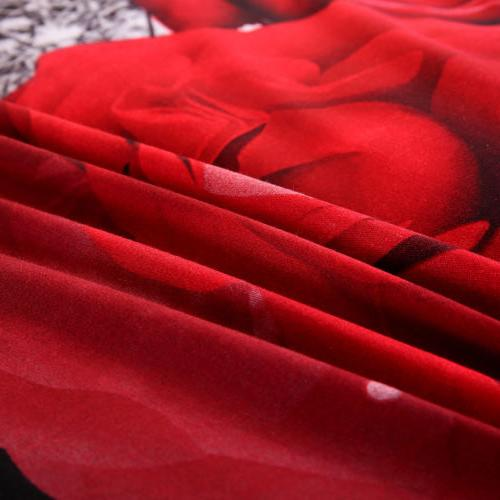 QUEEN Size Rose Complete Set With Cover Fitted