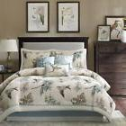 Queen Size 7 Piece Off White Country Style Rustic Warm Comfo