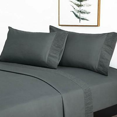 queen size sheets ruffled embossed bed sheet