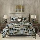 Quilt Set Queen King Size Sets Patchwork Bedding Rustic Cabi