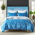 Reversible Luxury Leaves Bedding Set Duvet Cover Pillowcase