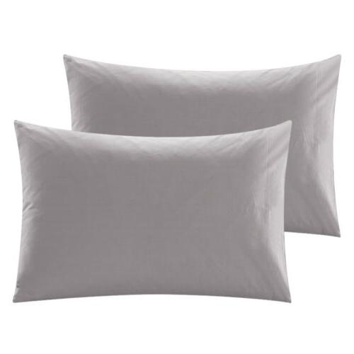 Set 2 Pure Cotton Bed Pillow Solid