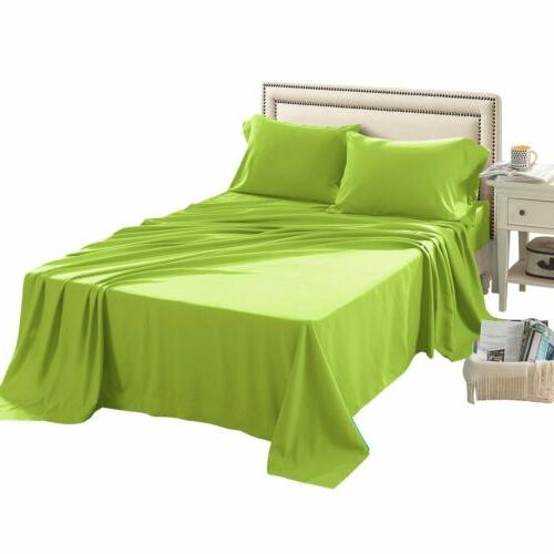 Sheet Sets 4-Piece Twin Full Queen Bedding 1500 Brushed Micr