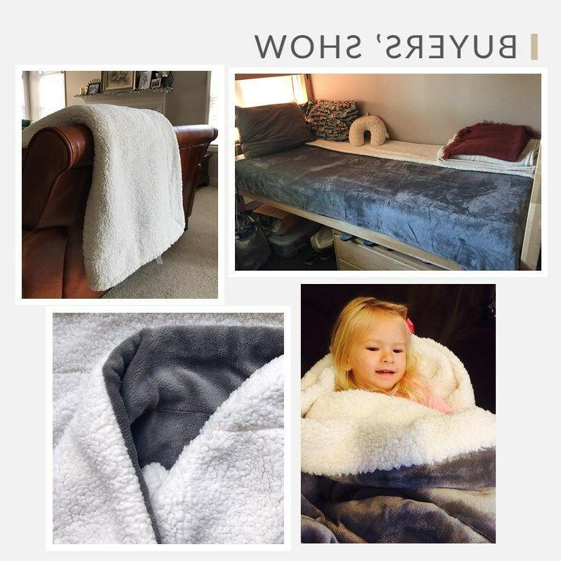 Bedsure Fuzzy Bed Throws Reversible for