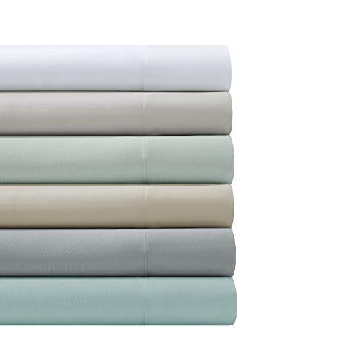 Smart Set - Microfiber Wicking Queen Size Blue Fitted Sheet and Pillow Cases