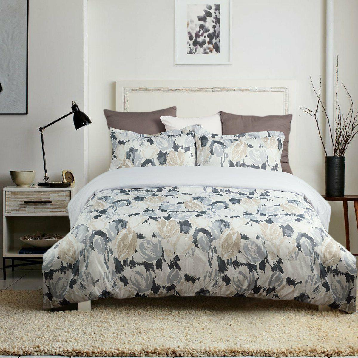 Bedsure Soft 3-Piece Tulip Flower Duvet Cover Set for Comfor
