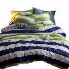 ORUSA Striped Bedding Sets Queen Duvet Cover Sets Multi Colo