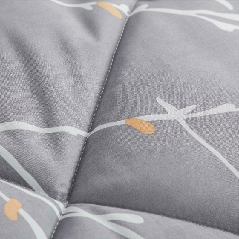 Bedsure Branch Floral Comforter Full/Queen Grey Alternative