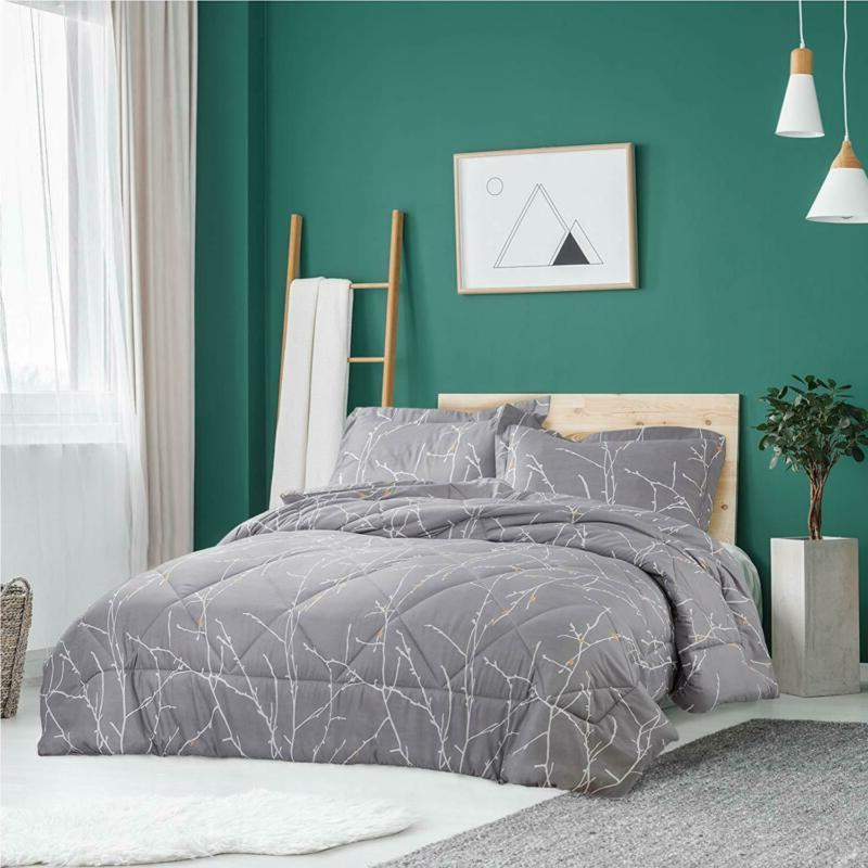 Comforter Set Grey Down Alternative