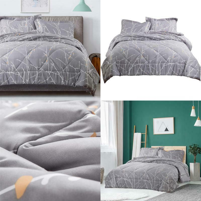 tree branch floral comforter set full queen