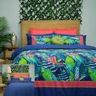 Utopia Leaf Reversible Quilt Cover Set by Apartmento - SINGL