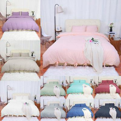 washed cotton bedding set comforter duvet cover