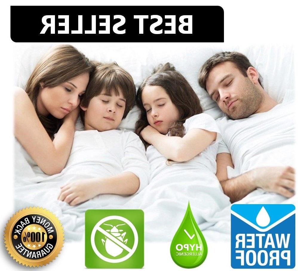 waterproof mattress encasement zippered bed bug hypoallergen