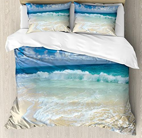 wave queen duvet cover set