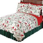 winter cardinals christmas quilt bedding by