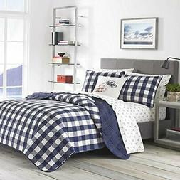 "Lake House Plaid Bedding, Full/Queen, Blue Home "" Kitchen"