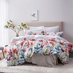 Leadtimes Duvet Cover Set Queen Duvet Cover Floral Boho Hote