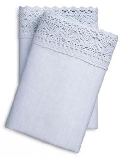 Simply Shabby Chic Linen Cotton Pillowcases FULL QUEEN Phant