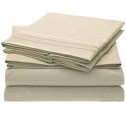 Harmony Linens Bed Sheet Set - 1800 Double Brushed Microfibe