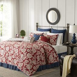 Madison Park Lucy Queen Size Bed Comforter Set Bed in A Bag