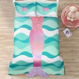Lush Decor Décor Mermaid Ruffle 2Piece Comforter Set, Twin,