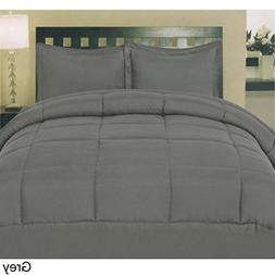 Luxury 600 Thread Counts 7pc Bed In A Bag RV Champer Short Q