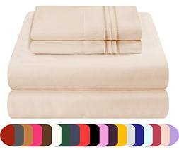 Mezzati Luxury Queen Sheets Set - Soft and Comfortable 1800