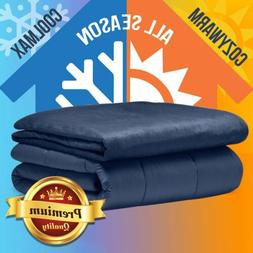 Adult Weighted Blanket 100% Oeko-Tex Certified Cooling Cotto